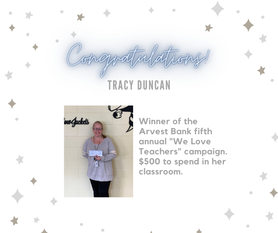 Tracy Duncan - Arvest winner