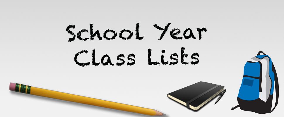 Elementary Class Lists 2020-2021