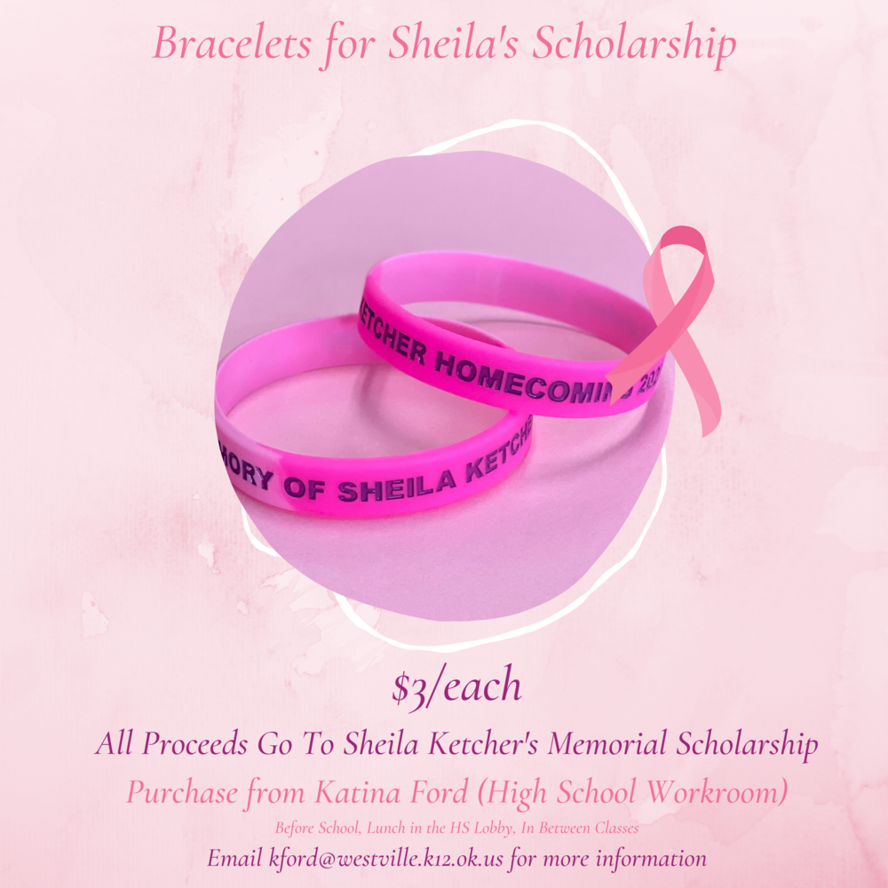 Bracelets for Sheila's Scholarship