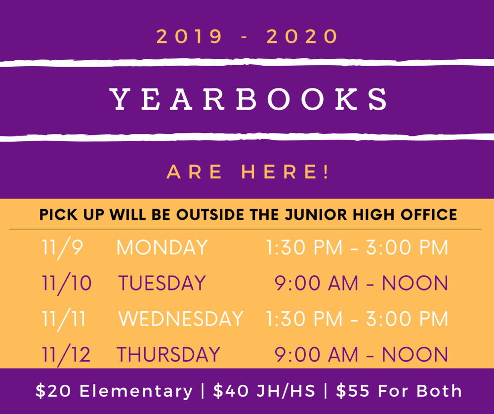 Pick up Yearbooks this Week!