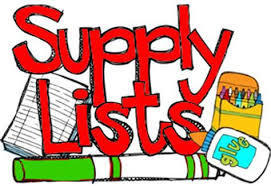 Elementary Supply List 2019-2020