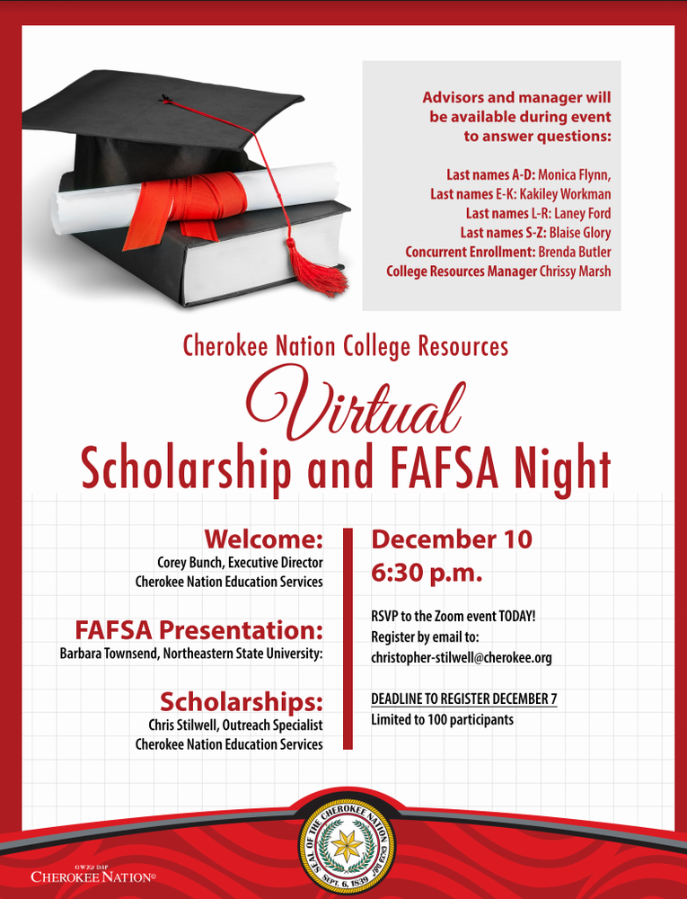 Cherokee Nation Virtual FAFSA