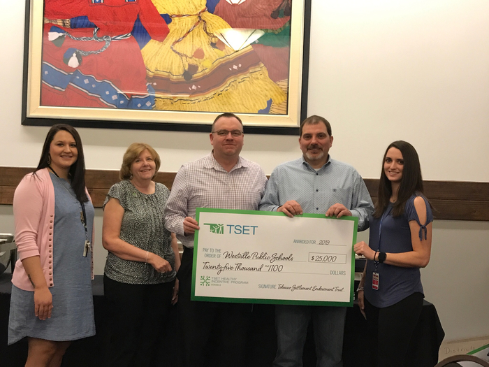 Westville Public Schools receives $25,000 from TSET